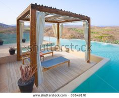 Gallery of exotic swimming pool cabana ideas in a variety of styles. Find popular pool cabana designs for inspiration to create your own backyard oasis. Pool Gazebo, Modern Pergola, Backyard Pergola, Pergola Shade, Pergola Plans, Pergola Ideas, Backyard Cabana, Corner Pergola, Cheap Pergola