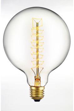 Ellos Home Lyspære Edison Spiral Kulltråd 125 mm i fargene Klart glass innen Hjem - Lyskilder - Ellos