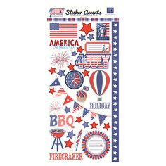 Echo Park - 4th of July Collection - Cardstock Stickers at Scrapbook.com $1.99