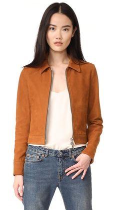 Golden Goose Mini Leather Jacket In Brown Rachel Zoe, Rebecca Taylor, Business Attire, Business Fashion, Blank Denim, Madewell, Trench Coats, Rebecca Minkoff, Blazers