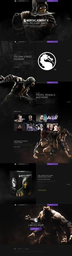 Mortal Kombat X on Web Design Served Ui Ux Design, Interface Design, Site Design, Logo Design, Graphic Design, Landing Page Inspiration, Web Design Inspiration, Design Ideas, One Page Website