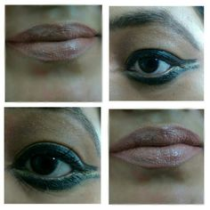 Wing eyeliner and nude lips!!