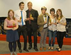2010-11 Kingston Publishing MA Oscar winners: Frankie Jones, George Maudsley, Pete Kenyon, Kjell Eldor, Alice Saggers and Leah Feltham