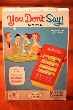 Vintage 1963 Milton Bradley You Don't Say Game by CoolBoyVintage, $11.99