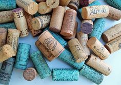 Teal & Yellow Craft Corks   by TheWoodenBee