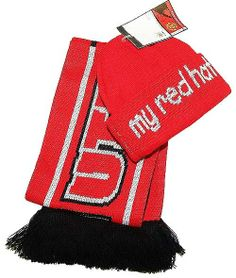 Manchester United Infants Hat Scarf Set My Red Hat