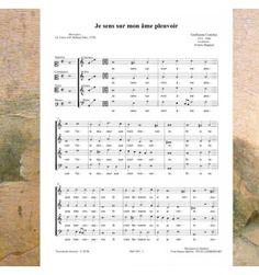 Guillaume COSTELEY - Je sens sur mon âme pleuvoir  - Chanson de la Renaissance choeur à 4 voix mixtes  (SATB) - musique publiée aux éditions Musiques en Flandres - référence : MeF 454