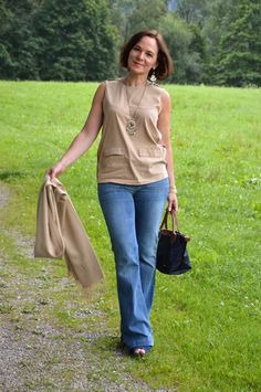 Flared jeans modern classic style