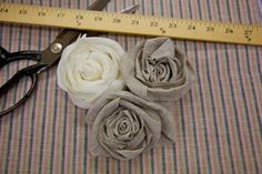 How to make a fabric rosette. DIY Flowers DIY Crafts
