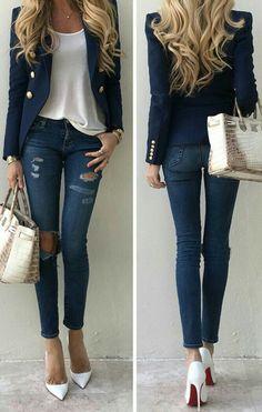 Cheap Women S Fashion Blazers Blazer Fashion, Fashion Outfits, Womens Fashion, Classy Outfits, Stylish Outfits, Mode Outfits, Work Fashion, Everyday Outfits, Casual Chic
