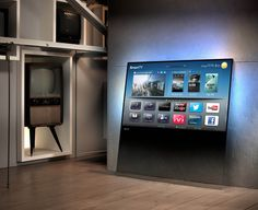 Philips Designline LED-HDTV - A sheet of glass that leans onto or can be hung on a wall. Philip Glass, Cool Technology, Technology Gadgets, Tech Gadgets, Futuristic Technology, Smart Tv, Smart Home, 55 Inch Tvs, 3d Tvs