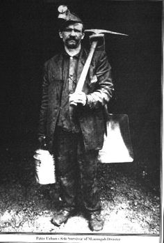 Peter Urban, the only survivor of the mining disaster, 1914, Boone County, West Virginia.  Coal Miner's Photo