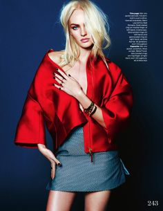visual optimism; fashion editorials, shows, campaigns & more!: being candice: candice swanepoel by kai z feng for uk elle december 2013