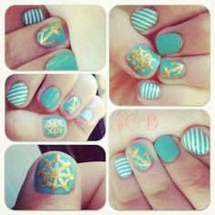 ⚓my nautical nail art⚓