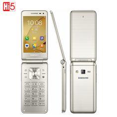 "Samsung Galaxy Folder G1600 (2016) Dual SIM LTE Cellphone 480x800 Quad Core 1.4GHz 16GB ROM 2GB RAM 3.8"" inch Mobile Phone"