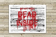 Zombie Birthday Greeting Card  DO NOT OPEN Dead by aLouCreations, $3.85