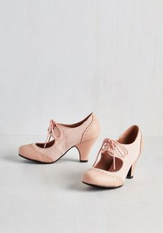 It's a Sure Fete Heel in Petal From the Plus Size Fashion Community at www.VintageandCurvy.com