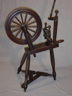 """Laburnum Scottish spinning wheel"" Height 90 cm"
