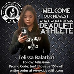 """Welcome our newest lady #WWJDeadlift #Athlete @telisssaaa! We are proud to sponsor her! Give her a follow and use her exclusive #promocode for a discount!…"""