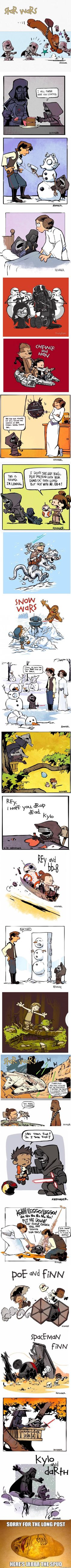 Force Awakens In The Style Of Calvin And Hobbes by Brian Kesinger