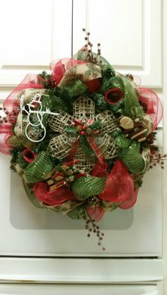 Country Elegance Wreath only $60 by One Wreath at a Time