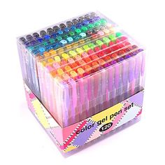Gel Pens for Adult Coloring innhom 120 Colors Gel Pen Set for Adult Coloring Books Crafting Doodling Scrapbooking Drawing- Glitter Metallic Pastel Neon Swirl Standard Colors with Case Paint Pens, Gel Pens, Arte Sharpie, Adult Coloring, Coloring Books, Free Coloring, Printable Christmas Coloring Pages, Cute Pens, Cute School Supplies