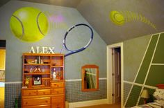 Cool tennis themed room