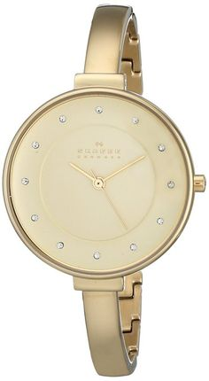 3c9f0f88788 Skagen Gitte Champagne Dial Gold-tone Ladies Watch SKW2229