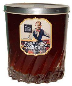 Bruce Julian Heritage Foods Meyer Lemon Blood Orange Pepper Jelly Preserved in Collectible Drinkware  13 Oz ** BEST VALUE BUY on Amazon