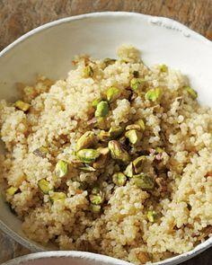 Cooking with Quinoa. 16 Quinoa recipes. Quinoa with Pistachios.