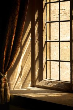 beauty of old things, mystery of life << and sunlight through windows: stone mullioned windows Cabin In The Woods, Brown Aesthetic, Looking Out The Window, Window View, Through The Window, Chiaroscuro, Light And Shadow, Windows And Doors, Sunlight