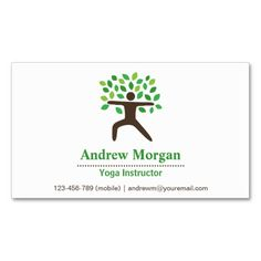 Modern, Professional, Yoga Wellness Instructor Business Card