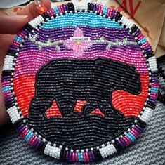 Keep Calm and Bead On — native american beadwork Native Beading Patterns, Beadwork Designs, Bead Embroidery Patterns, Beaded Earrings Patterns, Bead Loom Patterns, Beaded Embroidery, Bear Patterns, Beaded Bracelets, Bead Earrings