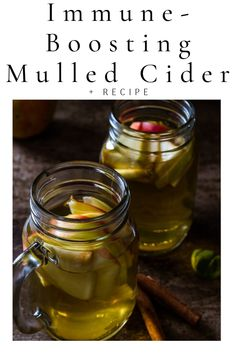 Healthy fall mulled apple cider for boosting immune system, preventing winter colds and infections, a good natural remedy. Mulled Cider Recipe, Mulled Apple Cider, Alternative Health, Alternative Medicine, Healthy Kids, Healthy Living, Apple Cider Uses, Home Meals, Boost Immune System