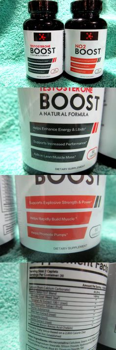 Sports Vitamins and Minerals: Boost Testosterone Natural Formula And Boost No2 Muscle Massaid 60 Capsules Ea -18 -> BUY IT NOW ONLY: $49.99 on eBay!