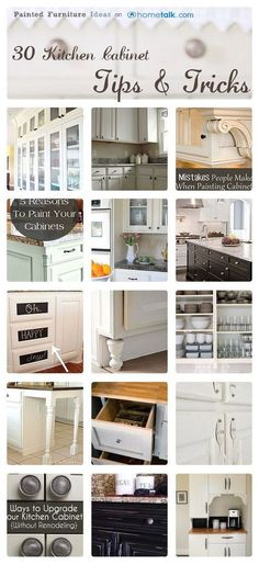 30 Kitchen Cabinet Tips & Tricks