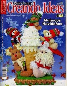Revista  Crenado ideas navideña Christmas Books, Christmas Humor, Christmas Crafts, Merry Christmas, Christmas Decorations, Xmas, Christmas Ornaments, Holiday Decor, Book Crafts
