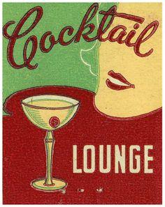 Cocktail Lounge vintage illustration  #martini