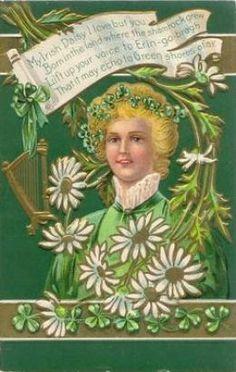 Free Vintage St. Patricks Day Greeting Cards: Pretty Women