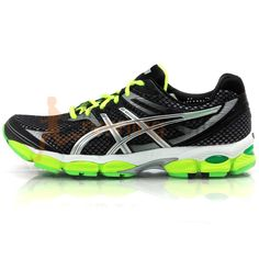 Asics Men's Gel Cumulus 14 Special Edition Running Shoe SS13: Black/Lightning/Neon Yellow Asics Running Shoes, Running Shoes For Men, Black Lightning, Neon Yellow, Sneakers, Stuff To Buy, Clothes, Women, Fashion