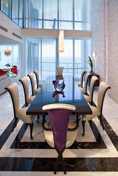Luxury Dining Room, Beautiful Dining Rooms, Dining Room Design, Dining Area, Dinning Set, Luxury Penthouse, Dining Room Inspiration, Elegant Dining, Home Furniture