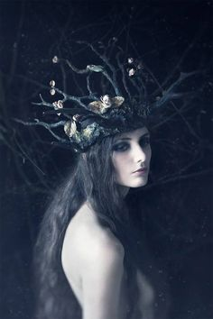darkbeautymag:  Photographer:Daria EndresenHeadpiece:Candice AngéliniModel:Lizzie Saint Septembre