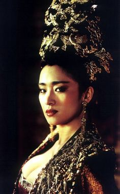 Gong Li in Curse of the Golden Flower. Such a good and visually mesmerizing movie!
