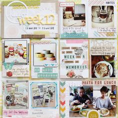 I like how the words are done on the Project life page. Digital Project Life, Project Life Baby, Project 365, Project Life Scrapbook, Project Life Layouts, Project Life Cards, Pocket Scrapbooking, Scrapbooking Layouts, Scrapbook Cards