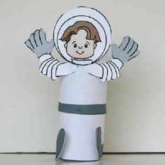 Astronaut toilet paper roll craft to make- fun for spaces lesson  sc 1 st  Pinterest & Paper plate astronaut craft for Space Themes. Charlotteu0027s Clips ...