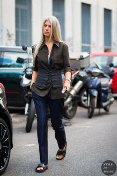 Milan SS 2017 Street Style: Sarah Harris