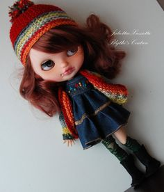 Blythe outfit: dress, jacket, hat, boots and false stockings by juliettaexussetta on Etsy