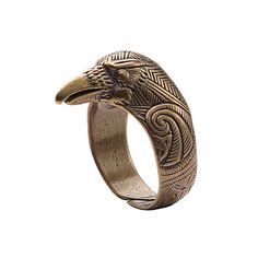 Ravens ring. Bronze Raven head ring. Viking Raven Head Ring Jewel. Celtic Pagan Jewelry. Jewellery Rings