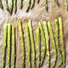 Garlic Butter Roasted Asparagus makes a quick and easy, delicious side dish recipe!  Oh asparagus, how I love thee! I could eat it every single night and never tire of it and this garlic butter roasted version is one of my absolute favorite ways to make it! To make it, I snap the tough ends...