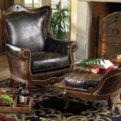 Brazos Wing Chair & Ottoman from Crow's Nest